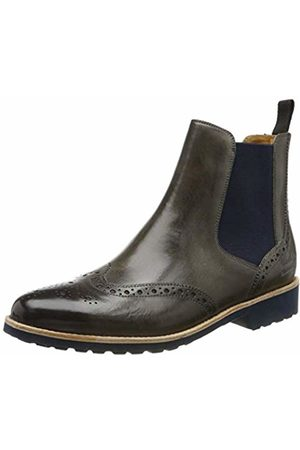 Melvin & Hamilton Women's Selina 6 Chelsea Boots, ( Crust-Grigio-Elastic Lining-Rich Tan-Insole Leather-Rooko Dark-Navy)