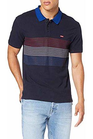 Levi's Men's Housemark Polo Shirt, (Storage Stripe Nightwatch Crimson/ /Sodalite / 0107)