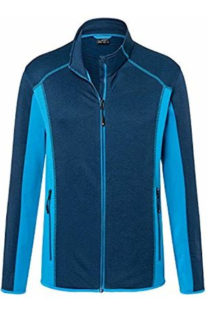 James & Nicholson Men's Structure Fleece Jacket Navy/Bright