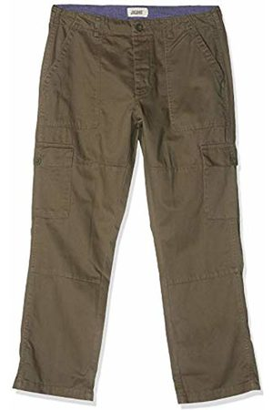 Jacamo Men's Khaki Fatigue Detail Cargo Trouser 29 Inches (Shorter Length), 001