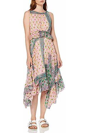 Koton Women's Sommerkleid Mit Kleinem Muster Und Rüschen Party Dress, A04