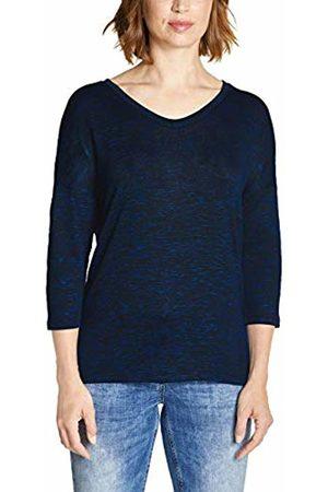 Cecil Women's 313882 T-Shirt, (Tinted Ink Melange 11468)