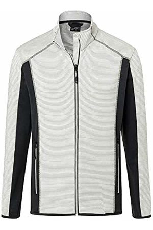 James & Nicholson Men Fleece Jackets - Men's Structure Fleece Jacket /Carbon