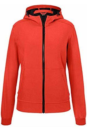 James & Nicholson Women's Ladies' Hooded Softshell Jacket, Flame/
