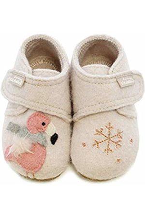 Living Kitzbühel Baby Girls' Babyklettschuh Winterflamingo Slippers