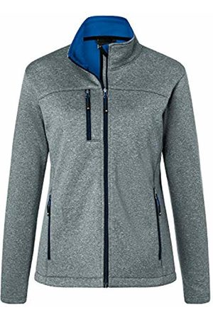 James & Nicholson Women's Ladies' Softshell Jacket Dark-Melange/Royal