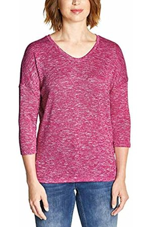 Cecil Women's 313882 T-Shirt, (Beetroot Melange 11801)
