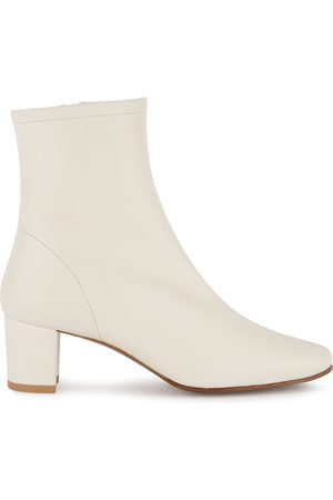 By Far Sofia 65 Off- Leather Ankle Boots