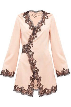 Agent Provocateur Amelea Lace Trimmed Silk Blend Pyjama Top - Womens