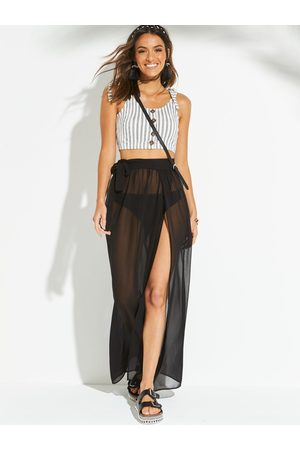 Very Chiffon Tie Side Maxi Beach Skirt