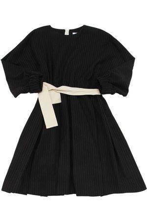 Unlabel Striped Cotton & Wool Blend Dress