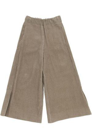 Unlabel Flared Cotton Velvet Pants