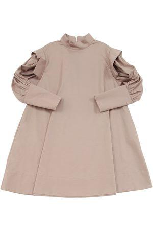 Unlabel High Collar Stretch Cotton Poplin Dress