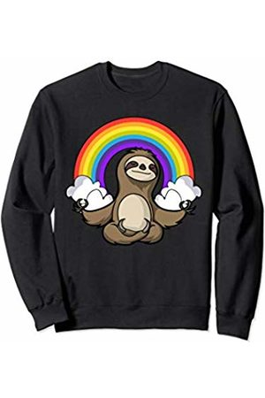 Cute Sloth Yoga Shirts Funny Sloth Yoga Meditation Zen Rainbow Girls Boys Kids Sweatshirt