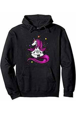 Unicorn Yoga Lover Magical Shirts Unicorn Yoga Zen Meditation Buddha Space Women Girls Pullover Hoodie