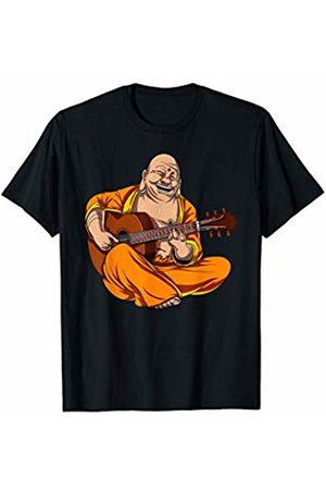 Buddha Zen Yoga Meditation Shirts Buddha Playing Guitar Yoga Meditation Funny Zen Party T-Shirt