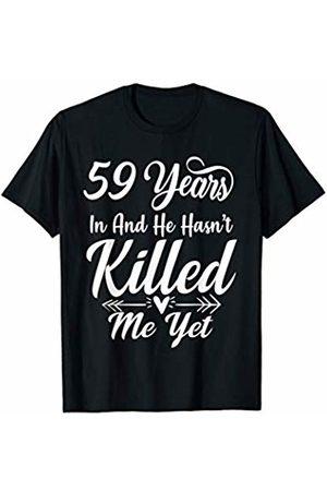 Medotukito 59th Wedding Anniversary Gift For Wife Her She Funny T-Shirt