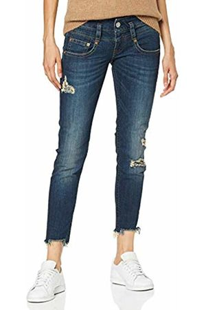 Herrlicher Women's Pitch Slim Cropped Jeans, (Rough Blues Destroy 829)