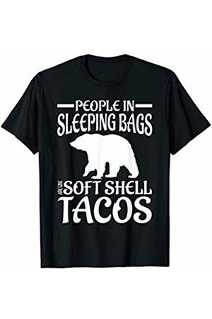 That's Life Brand PEOPLE IN SLEEPING BAGS ARE LIKE SOFT T SHIRT