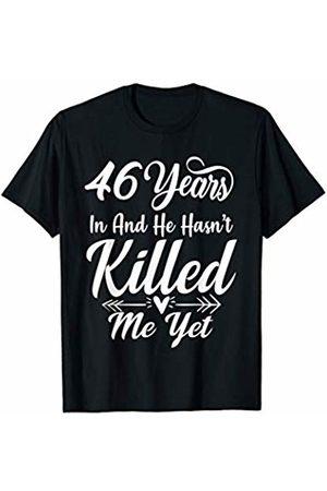 Medotukito 46th Wedding Anniversary Gift For Wife Her She Funny T-Shirt