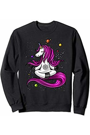 Unicorn Yoga Lover Magical Shirts Unicorn Yoga Zen Meditation Buddha Space Women Girls Sweatshirt