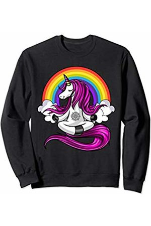 Unicorn Yoga Lover Magical Shirts Unicorn Yoga Zen Meditation Magical Rainbow Women Girls Sweatshirt