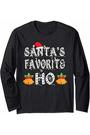 90d7ca86da9db Santa's Favorite Ho - Adult Christmas Funny Party Long Sleeve T-Shirt