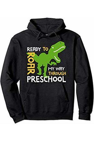 Preschool Dinosaur Shirt Kids First Day of Preschool for Boys Dinosaur School Pullover Hoodie