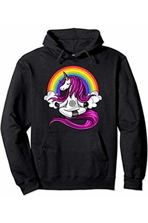 Unicorn Yoga Lover Magical Shirts Girls Hoodies & Sweatshirts - Unicorn Yoga Zen Meditation Magical Rainbow Women Girls Pullover Hoodie