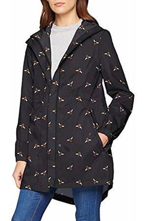 Joules Women's Golightly Raincoat, ( Bee Blackbee)