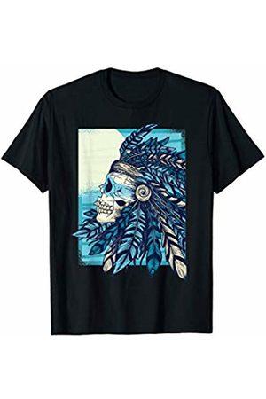 Costune Halloween Costumes Shirt Men Women Kids Really Scary Creepy Skull Graphic Native American Halloween T-Shirt
