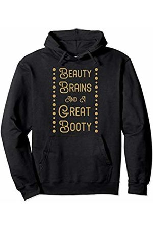 Tanim Beauty Brains Booty Funny Gym Workout Shirt For Women Girls Pullover Hoodie