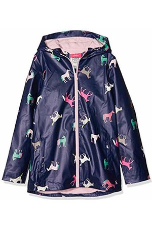 Joules Girl's Raindance Raincoat, Navy Horses