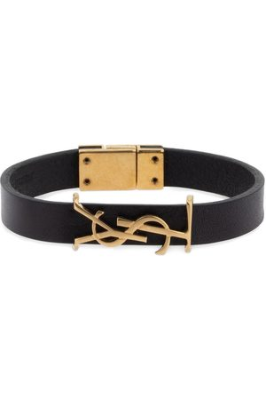 Saint Laurent Women Bracelets - Single Wrap Ysl Leather Bracelet