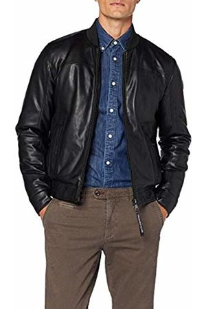 Trussardi Jeans Men's Bomber Regular Fit Soft Ecolea Jacket, ( K299)