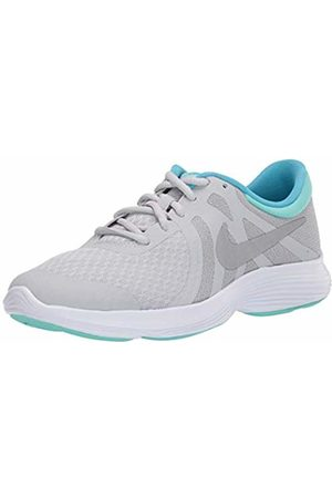 Nike Girls Revolution 4 (gs) Running Shoes, (Pure Platinum/Metallic /Wolf /Hyper Turq 007)