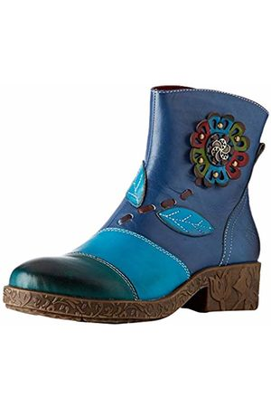 LAURA VITA Women's Cocreeo 03 Ankle Boots, Bleu
