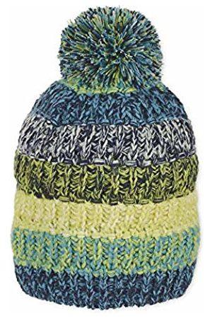 Sterntaler Boy's Bonnet Tricotée Pour Garçons Avec Pompon, Coloré, Âge: À Partir De 7 Ans, Taille: 57 cm, Bleu/vert Beanie