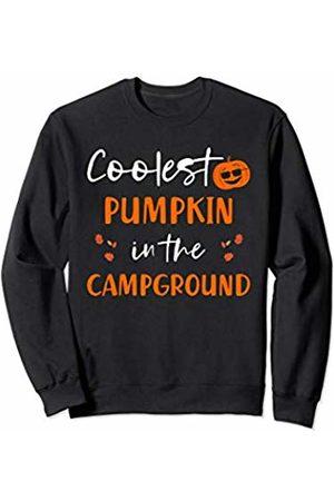 Camping Halloween Cute Matching Outfits Kids Camping Halloween Matching Kids Outfit Sunglasses Pumpkin Sweatshirt