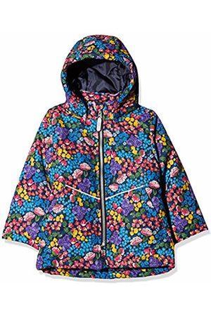 Name it Baby Girls' Nmfmaxi Jacket Flower Field Dark Sapphire