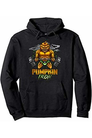 Funny Halloween Workout Costume Halloween Gym Workout Pumpkin Iron Motivation Men Workout Pullover Hoodie