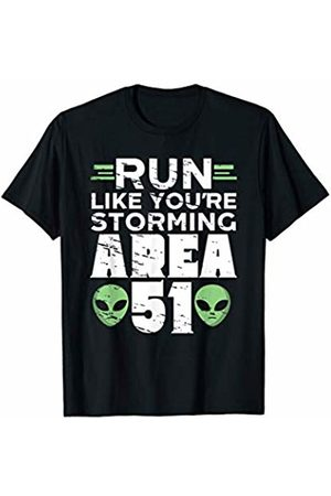 Freshoutlook Funny Aliens Shirts Run Like Your're Storming Area 51 Alien Running T-Shirt