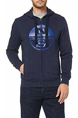 North Sails Men's Hooded Full Zip W/Logo Kniited Tank Top, Navy 802.0