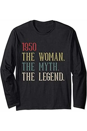 28e5929be7234 Funny Vintage Retro 69th Birthday Gift 1950 Tee for Women Long Sleeve  T-Shirt