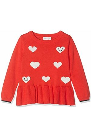 Name it Baby Girls' Nmfluvifa Ls Knit Box Jumper, Poppy