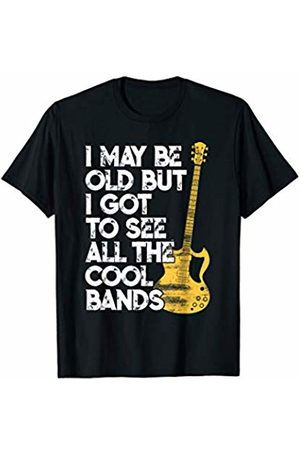 Clique Style Rock Concert Music I May Be Old But I Got To See All The Cool Bands Concert T-Shirt