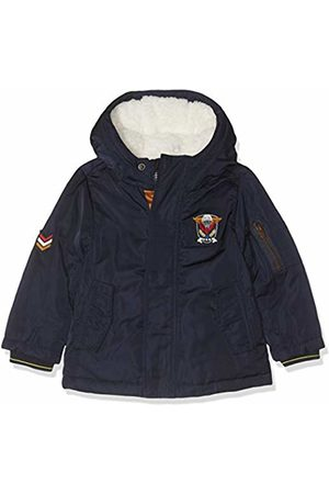IKKS Boy's Parka Capuche Marine Raincoat