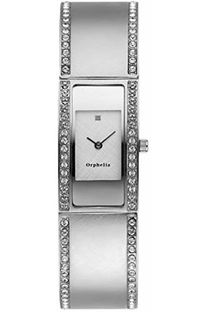 ORPHELIA Women's Quartz Watch with White Dial Analogue Display and Stainless Steel