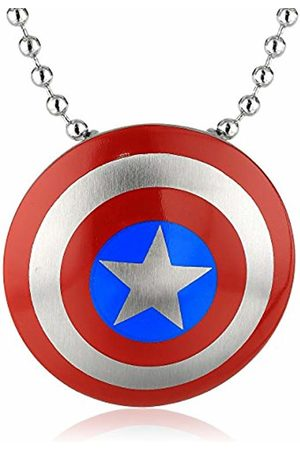 Marvel Comics Unisex Captain America Stainless Steel Chain Pendant Necklace