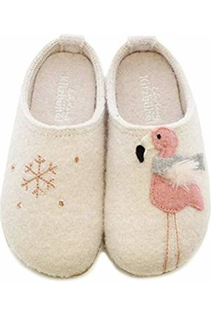 Living Kitzbühel Girls' Pantoffel Winterflamingo & Schneeflocke Open Back Slippers
